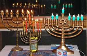 Menorahs and Hanukkiahs for Feast of Dedication
