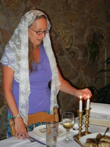 Lighting Sabbath Candles
